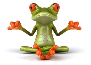 צפרדע באסאנה של יוגה